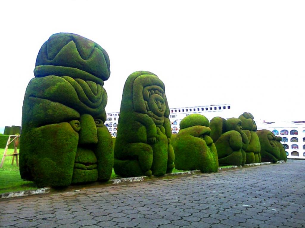 Cementerio Tulcán, Jardín escultórico