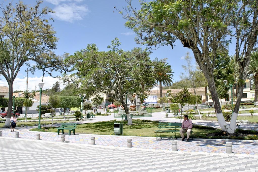 pueblo, tumbabiro, imbabura, ecuador, parque, bicicleta