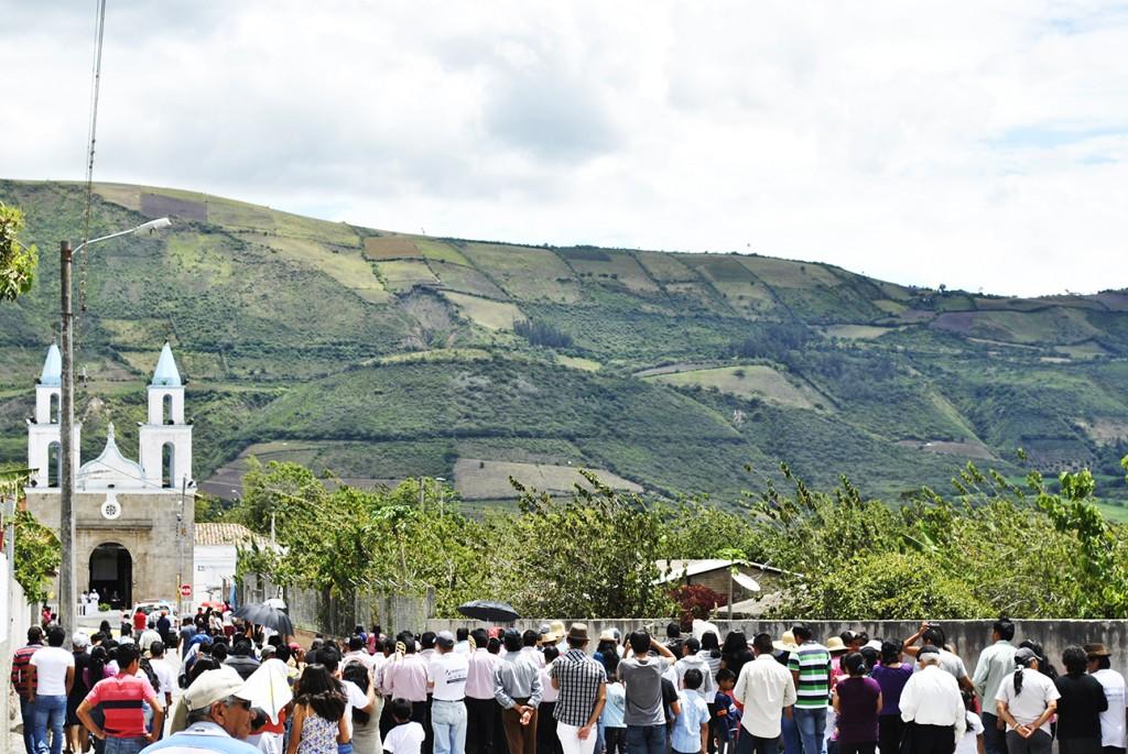 Ecuador, Imbabura, Tumbabiro, pueblo, calles, antiguo, casa, procesión