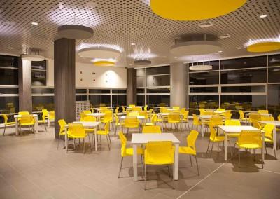 Diseño Comedor, Aseguradora del Sur Quito, circulos decorativos