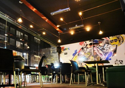 Expansion Coffee Bar, reciclado, arte urbano