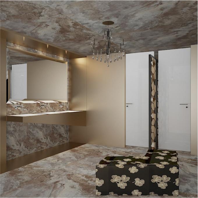 Emporio, baños, baño lujoso, baño de mujeres, luxury, glam, bathroom