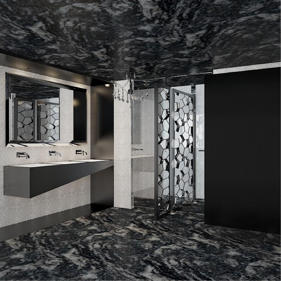 Emporio, baños, baño lujoso, baño de hombres, luxury, glam, bathroom