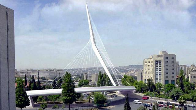 Israel, escultura bienvenida, puente