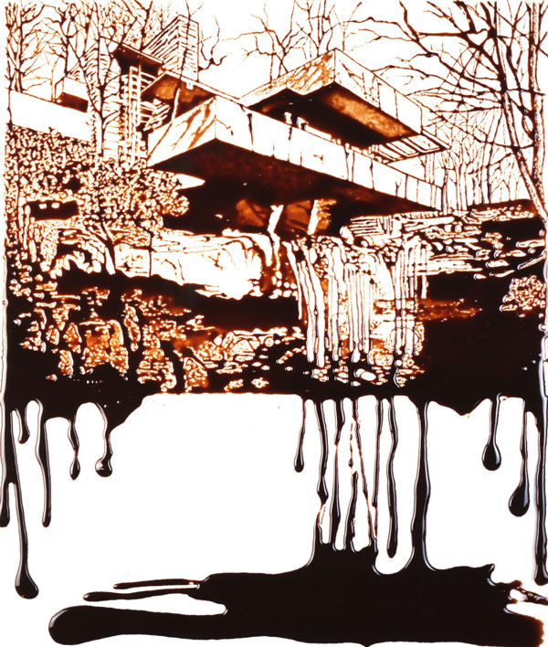 Casa de la cascada, Frank Lloyd Wright, Falling Water, residencia Kauffman, Chocolate, Arte Contemporaneo, Vik Muniz