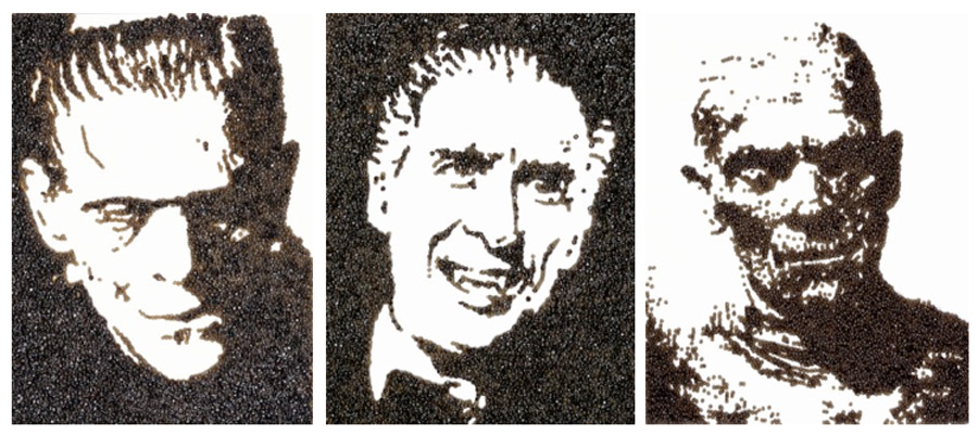 La Momia, Frankenstein, Dracula, Caviar, Comida, Arte Contemporaneo