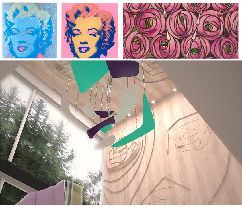 pop art, warhol, marilyn monroe, mackintosh, diseño, arte
