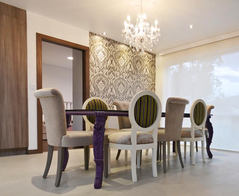 comedor, decoracion, diseño de interiores, vintage, eclectico, new barroc