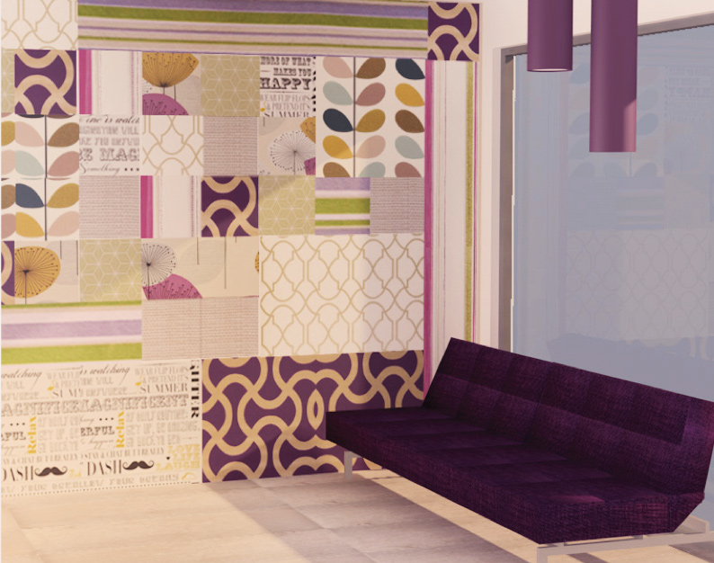 huespedes, patchwork, wallcovering, recubrimientos, tapices