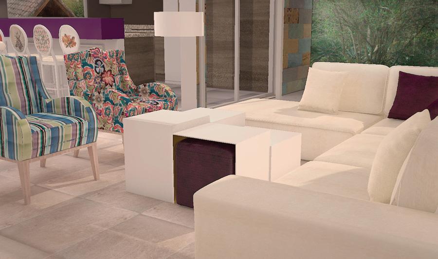 sala, rosas, deoracion, interiores, diseño, sala, mesa de centro