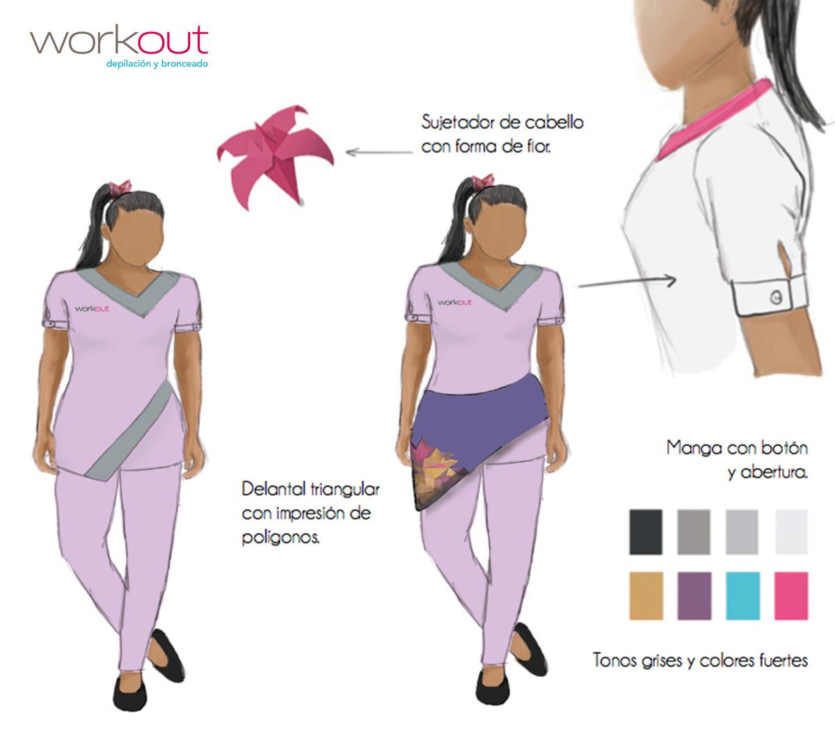 Diseño uniformes Workout, depilacion, bronceado, nueva imagen, rediseño, Web, diseño, oruga, 4studio