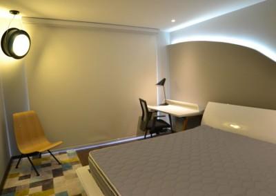 tempo, dormitorio master, diseño interior, sironi, departamento